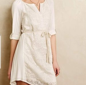 Anthropologie- Tiny, Embroidered Lace Dress